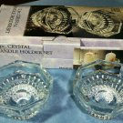 Pair of Crystal Candle Holders - NIB