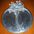 Vintage Decorative Floral Silverplate Divided Serving Tray