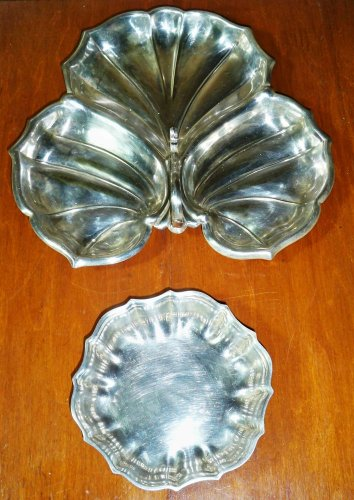 Vintage Silverplated Relish Serving Bowls/ F.B Rogers/ W&SB
