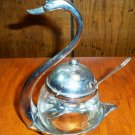 Beautiful Silverplate Swan Jelly Dispenser
