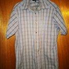 Vintage Murano Tan & White Pinstripe Shirt – Large - LG