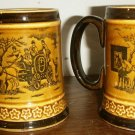 2 Antique Ceramic  Stein Mugs