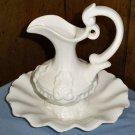 White Ceramic Water Basin Vase (Made in Portugal)