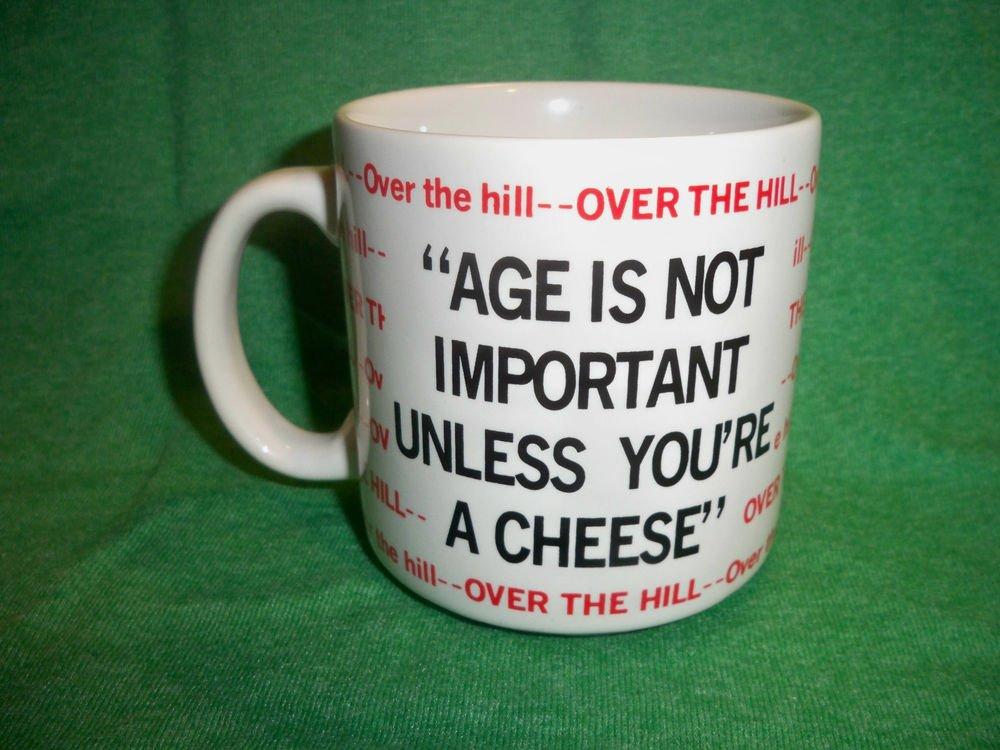"Funny  ""Over The Hill"" Coffee Birthday Mug - Big Cheese"