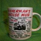 Funny  Fishing Coffee Mug - Fisherman's Excuse Tea Mug