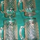 Set of Four High Quality Glass Textured  Mugs