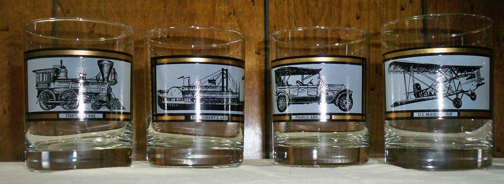 Vintage Set of Four Avon �America on The Move� Rock Glasses