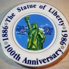 Statue of Liberty Centennial Commemorative Plate - 4th of July