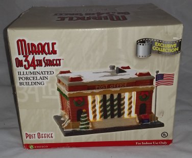 "Enesco ""Miracle On 34th Street"" Illuminated ""Post Office"" Building."