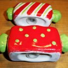 CLEARANCE!! Earthenware Ceramic Holiday Handpainted Salt & Pepper Shakers -NIB