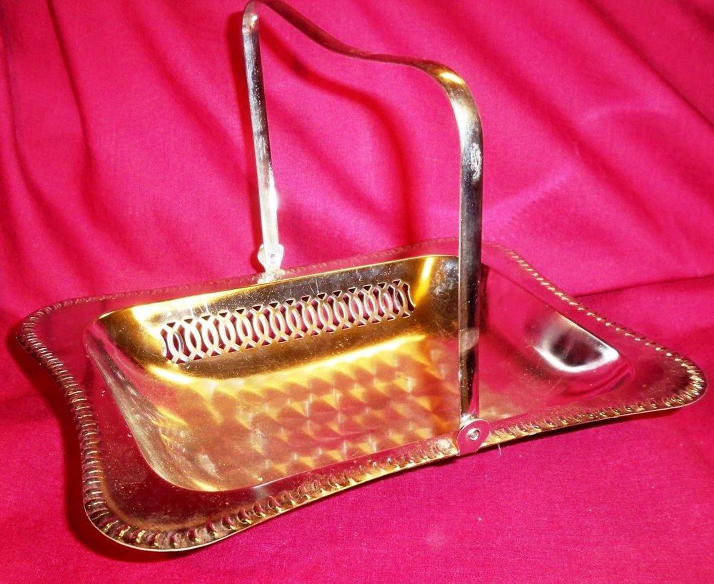 Vintage Silverplate Centerpiece Basket