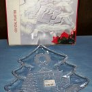CLEARANCE-  Mikasa Holiday Serving Dish - Crystal Tree Platter - NIB