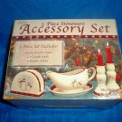 CLEARANCE-  Royal Seasons Holiday Snowman Stoneware Table Accessory Set