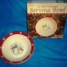 Royal Seasons Holiday Snowman Stoneware 10 Inch Serving Bowl