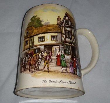 Vintage Staffordshire Porcelain Co. Mug Stein - Old Coach House York - England
