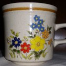 Vintage Flower Ceramic Coffee Mug / Stone Village Tropicana KB104