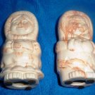 Vintage Alaska Sitka Clay Eskimo Figures