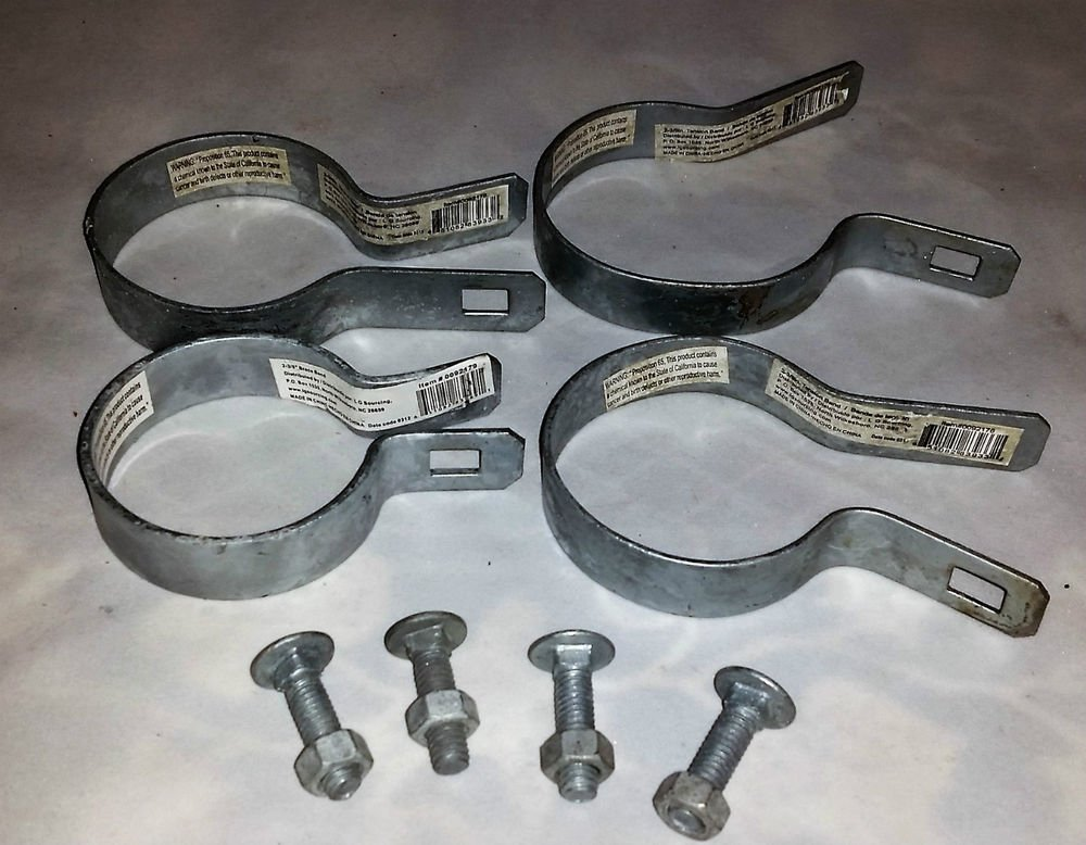 """Set of 4 Chain Link Fence Tension Bands: (2-3/8"""")"""