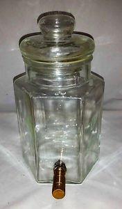 Vintage Glass Dispenser Decanter