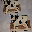 Pair of Cow Double Light Switch Covers