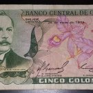 Vintage Banco Central De Costa Rica - Cinco Colones