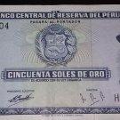 Vintage Banknote of Peru- Banco Central De Reserva Del Peru- 50 Cincuenta Soles