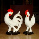 Vintage Japan Porcelain Ceramic Set of Hen Rooster Chicken Knick Knacks
