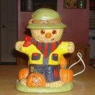 Vintage Large Ceramic Scarecrow Lighted Halloween Decor