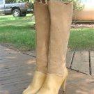 Vintage Wild Pair Knee High Leather Suede Zip Boots~8~