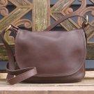 Vintage Coach Brown Leather Soho Fletcher Flap Cross Body Bag
