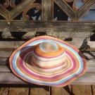 Vintage Jacobson's Striped Wide Brim Beach Sun Floppy Hat