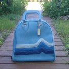 Vintage Blue Vinyl Bowling Ball Bag