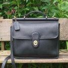 Vintage Coach Willis Black Leather Cross Body Bag