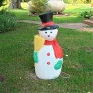 "Vintage TPI 41"" Snowman Christmas Blow Mold Yard Decor"
