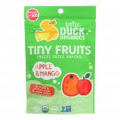 Little Duck Organics Tiny Fruits Freeze Dried Snacks - Apple and Mango - Case of