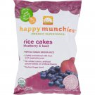 Happy Family - Happy Munchies Rice Cakes - Organic Blueberry And Beet ( 10 - 1.4