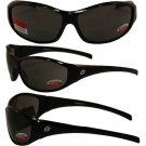 Birdz Sparrow Riding Glasses Gloss Black Frame with 1.0 Bifocal Smoke Lenses