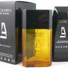 AZZARO POUR HOMME 2 PCS SET: 3.4 EDT SP + 5 OZ SHAMPOO (TRAVEL SET)