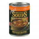 Amy's Organic Minestrone Low Salt Soup, 14.1 oz cans Pack of 3