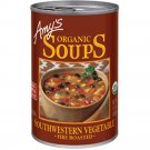 Amy's Organic Fire Roasted Southwestern Vegetable Soup, 14.3 oz cans Pack of 3