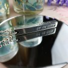 Childrens Name & Birthday Bar Pendant – Great Gift Idea For Dad