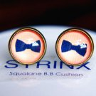 10mm Bow Earrings Glass Cabochon Earrings Blue Bow Tie Studs Earrings Glass Dome