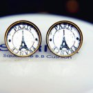 Vintage Paris Earrings Glass Dome Earrings Eiffel Tower Studs Earrings