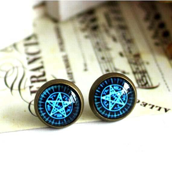 10mm Butler Earring Glass Dome Earrings Magic Studs Earrings Kuroshitsuji Earring