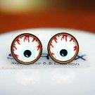 10mm Eye Earrings Glass Cabochon Earring Eyeball Stud Earrings Eye Post Studs