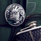 Bolo Tie Totem Necklace - Wolf Necklace Tie - Vintage Bola Tie t06