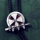 Bolo Tie Totem Necklace - Skull Shield Sword Necklace Tie - Vintage Bola Tie