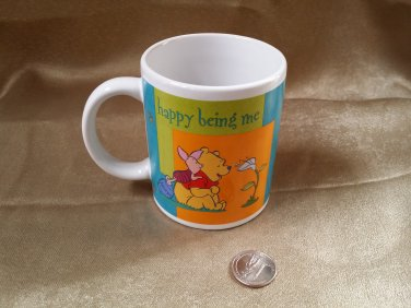 "Winnie the Pooh Mug ""Happy Being Me"" Coffee Tea Cup Disney Ceramic Retired"