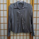 Banana Republic Grey S Blouse Silk Stretch Long Sleeve Button Shirt Button Down Shirt