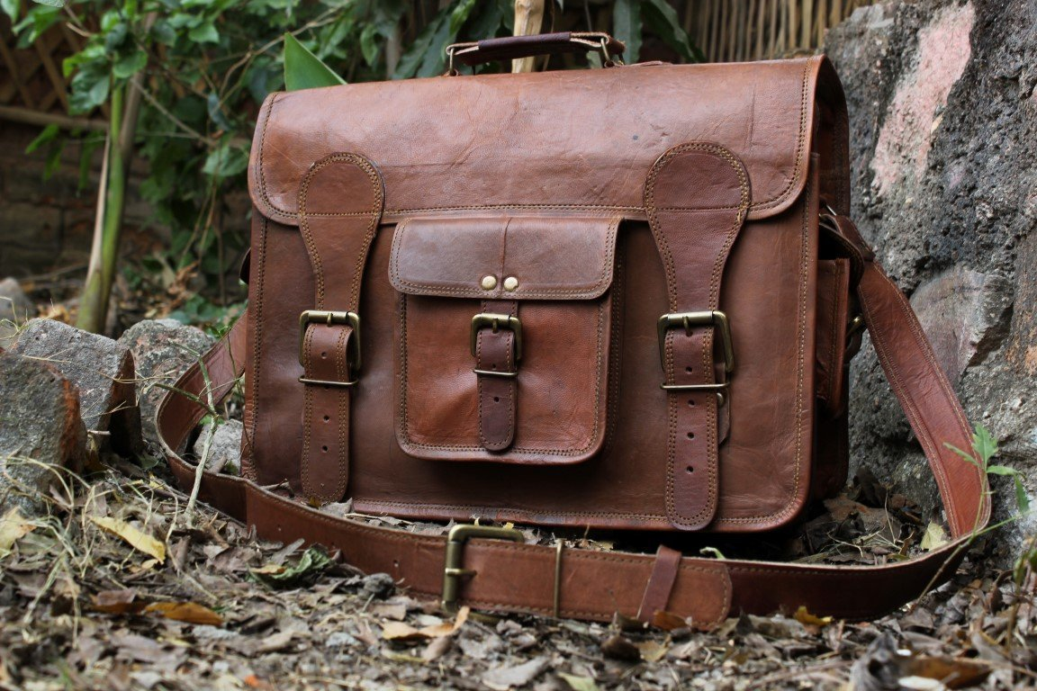 Leather Messenger Bag Brief Case Bag Genuine Leather Bag